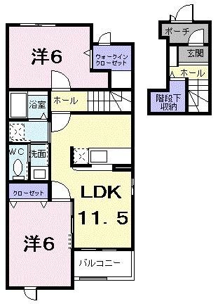 マミーハウス A・02020号室の間取り