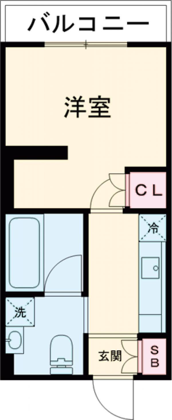 プラウドフラット中野・426号室の間取り