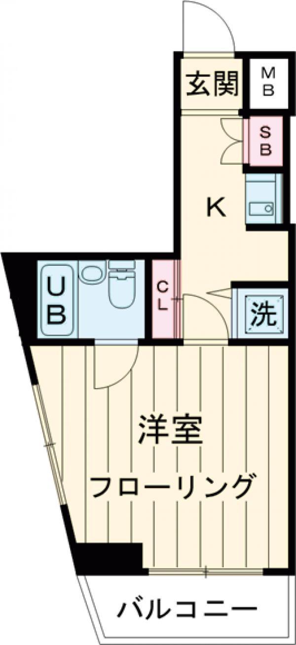クレッセント西荻窪・304号室の間取り