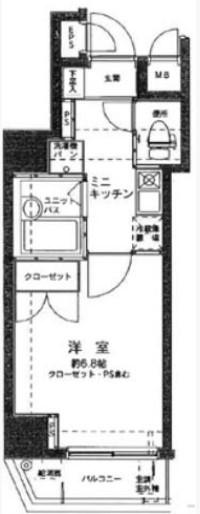 ヴェローナ高円寺・603号室の間取り