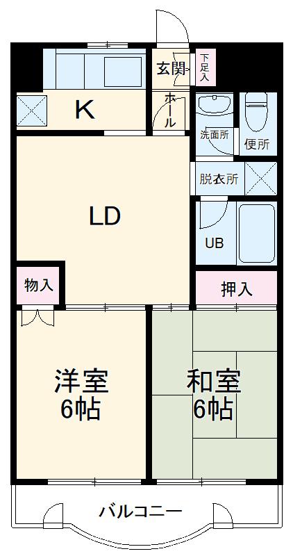 TAS桜川レジデンス・305号室の間取り