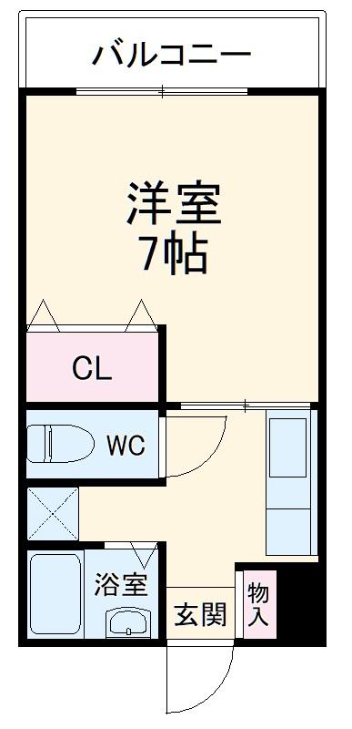 フレンドリー宇栄原・203号室の間取り