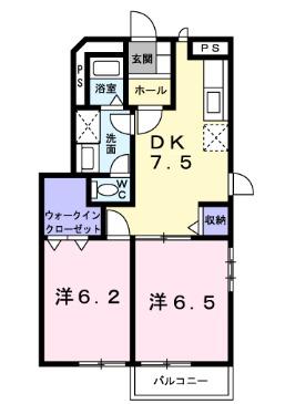 プリティーハウス21・01010号室の間取り