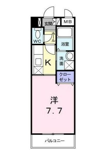グレイス羽田・03040号室の間取り