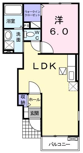 メゾンNaNa・01050号室の間取り