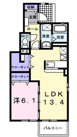 ラ コリ-ナ C・01010号室の間取り