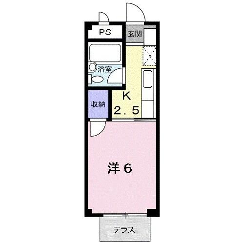 コ-ポユリ・01050号室の間取り