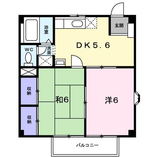 ニューシティ平田B 01010号室の間取り