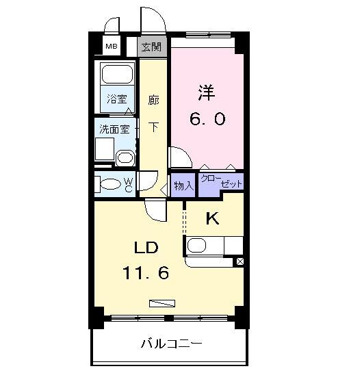 アネックス稲永駅前 07070号室の間取り