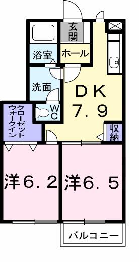 K'z 01010号室の間取り