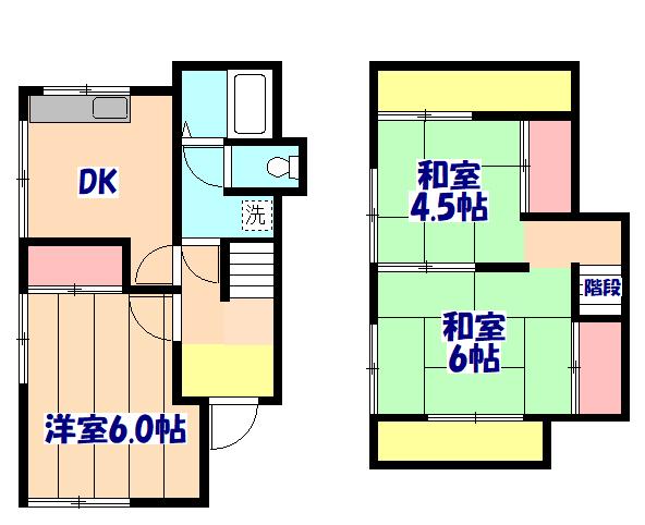 鎌ヶ谷名画の家・1号室の間取り