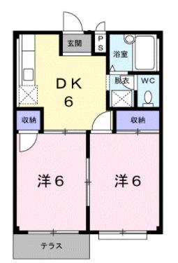 エルディム富士見Ⅱ・01020号室の間取り