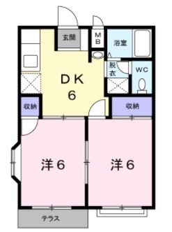 エルディム富士見Ⅱ・01060号室の間取り