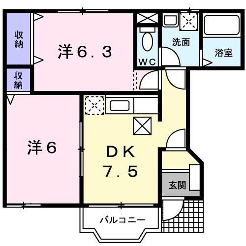 MAヒルズ 01020号室の間取り
