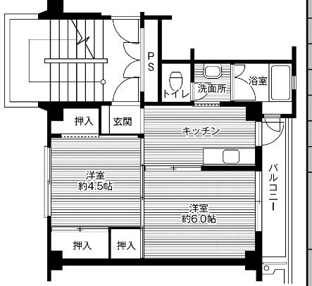 ビレッジハウス毛呂山2号棟・106号室の間取り