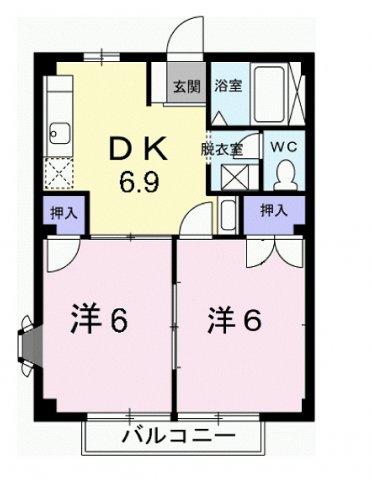 アンバーハウスKB・02030号室の間取り