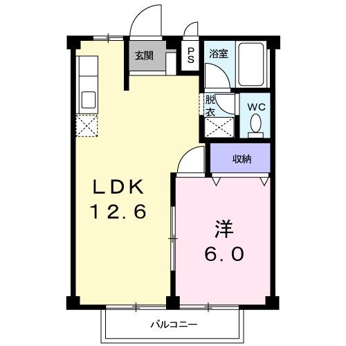 エスポアールA・02010号室の間取り
