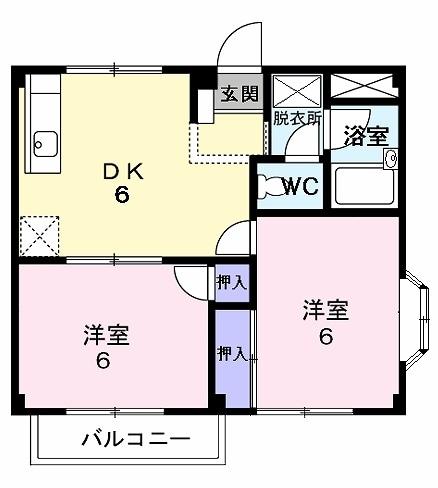 シティハイツ梅田 02010号室の間取り