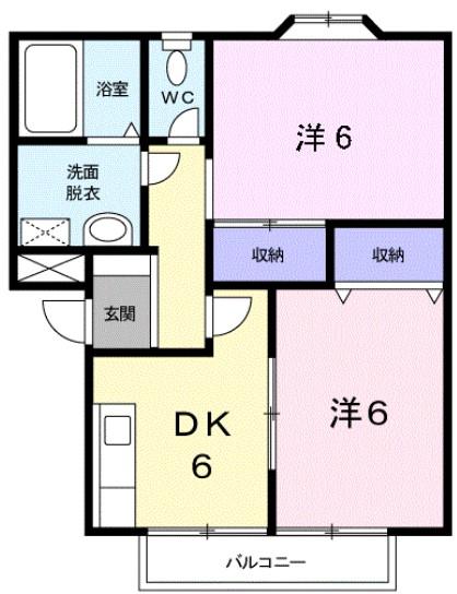 プランタン寿Ⅱ・02020号室の間取り