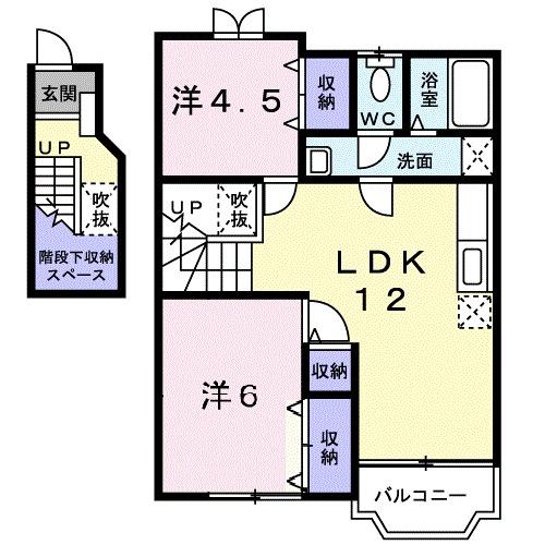 ソルフィ- E 02020号室の間取り