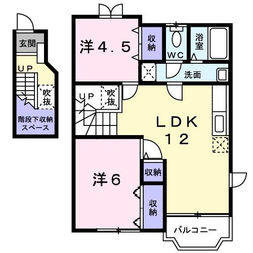 ピュアハウスB・02030号室の間取り