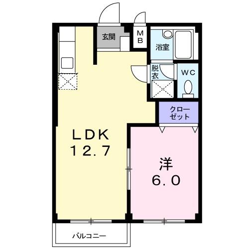エルディム笹島・02030号室の間取り