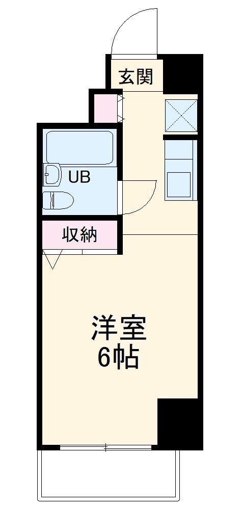 木曽屋第3ビル・802号室の間取り