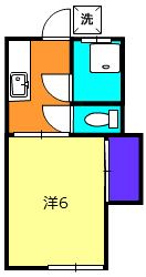 第一徳間荘・1-C号室の間取り