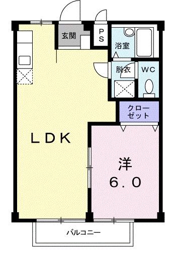 シティハイツ吉田・01010号室の間取り