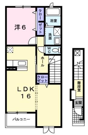 ノ-ヴァトワ-レ F・02030号室の間取り