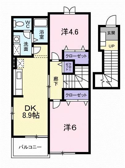 ヴァルトハウス・02040号室の間取り