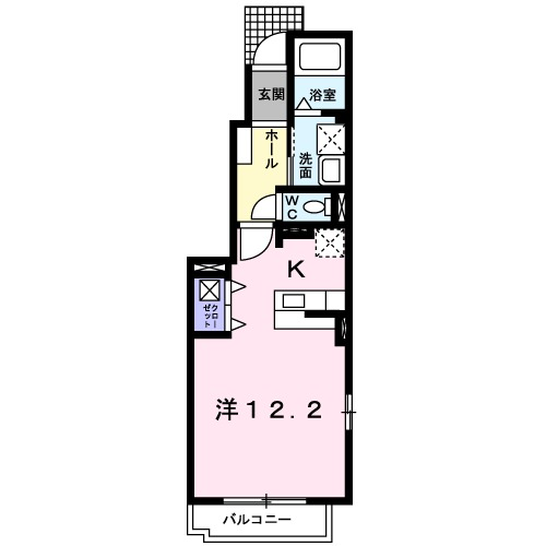 プラシ-ド K・01010号室の間取り
