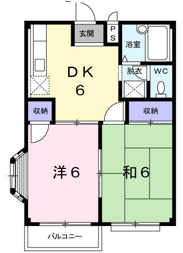 エルディム・山崎・02060号室の間取り