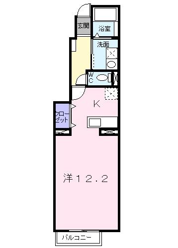 セントレアA・01030号室の間取り