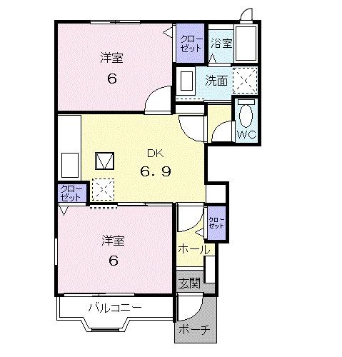 ガーデンハウス K.Y・01010号室の間取り