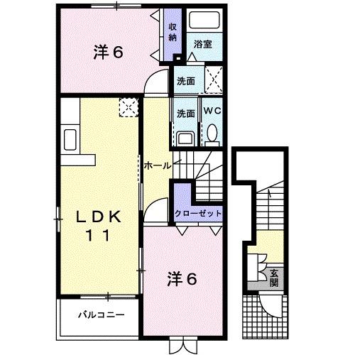 ソレイユKAWABATA 02010号室の間取り