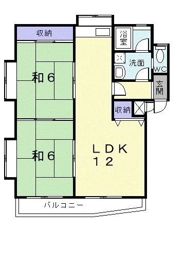クレストコ-トサカイ・01010号室の間取り
