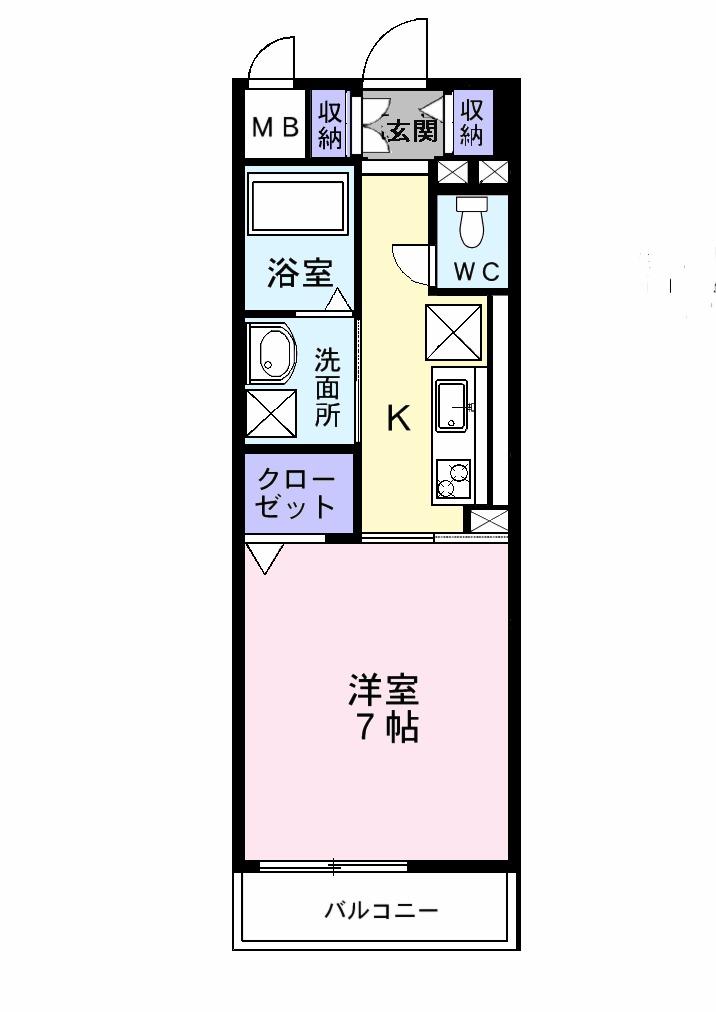 プレ・アビタシオン春日部Ⅰ 01020号室の間取り