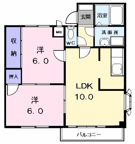 エステート蟹田・02010号室の間取り