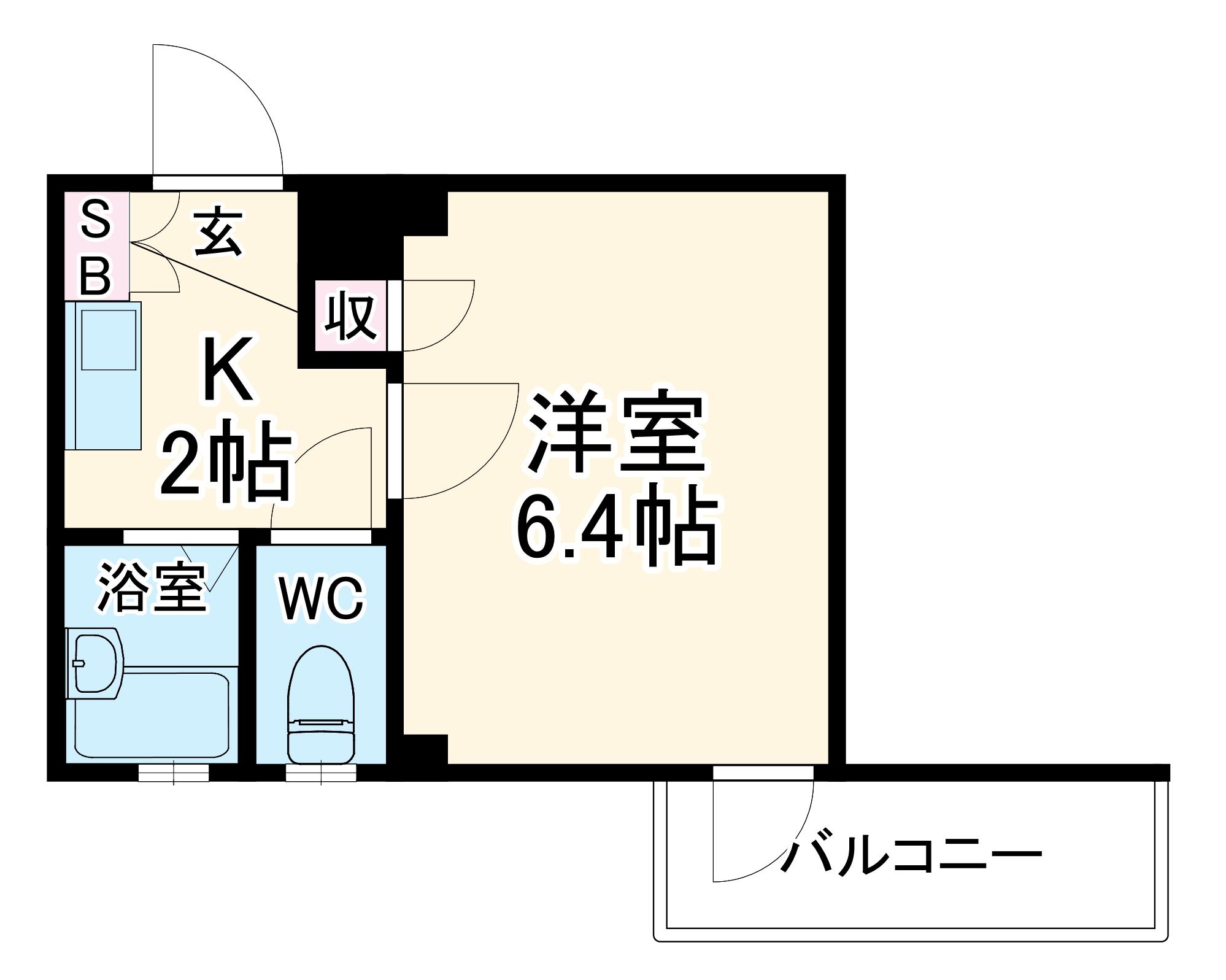 グリフィン新川崎 302号室の間取り