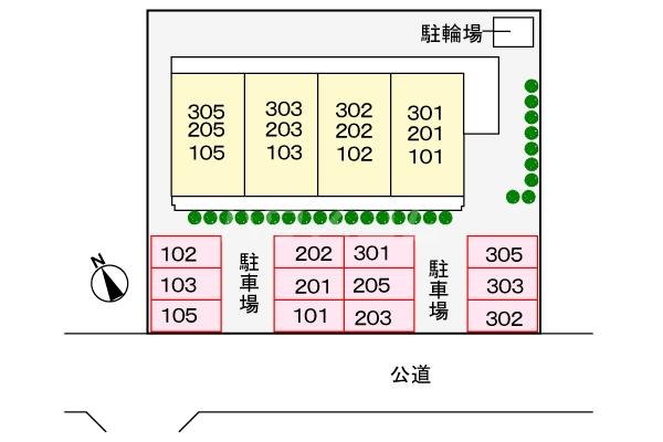 サンシティ豊川 02020号室の駐車場