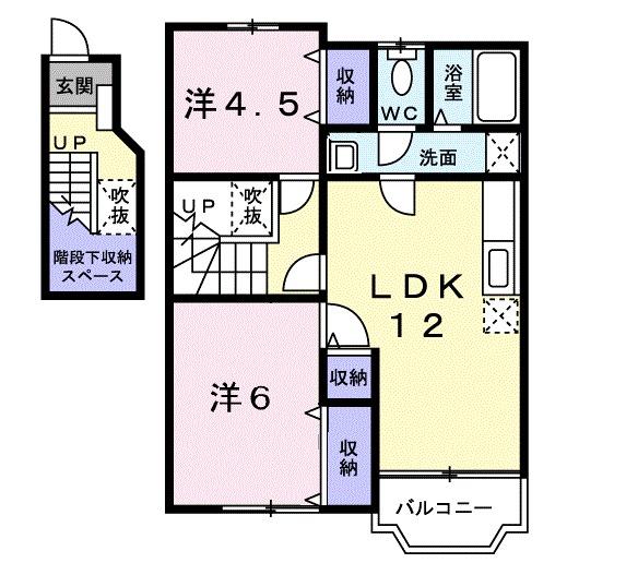 ラッフィナートⅡ (精華町)・02020号室の間取り