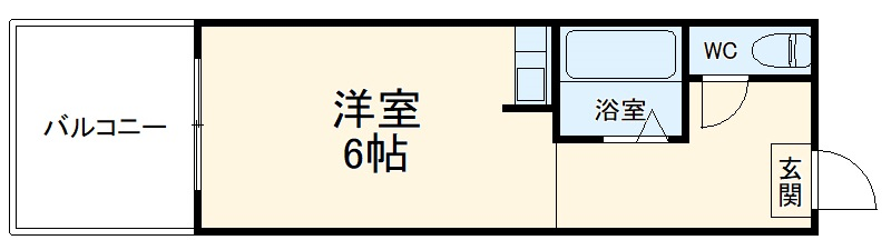 鵠沼ハイツ・2-C号室の間取り