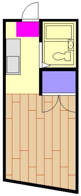 福山アパート 202号室の間取り