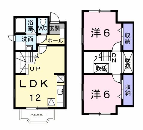 サンモール北川Ⅱ番館・01020号室の間取り