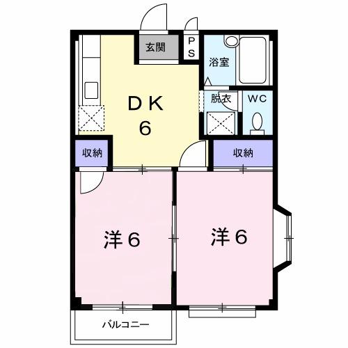 エルデムコーヨーB・02010号室の間取り