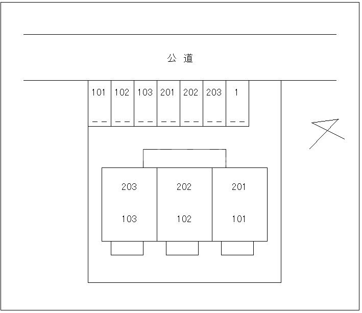 コーポはまなす 02020号室の駐車場