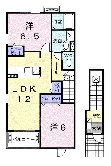 スペース ルーメンⅠ 02010号室の間取り
