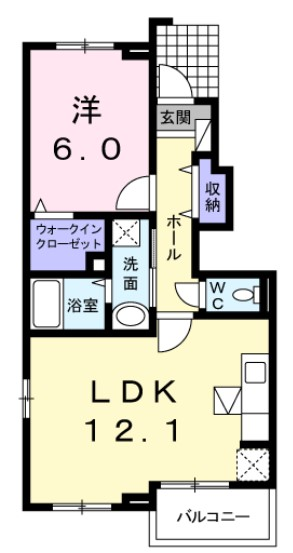 ピュアリアンハイツA・01030号室の間取り