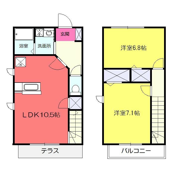 Rever Atsugi C・102号室の間取り